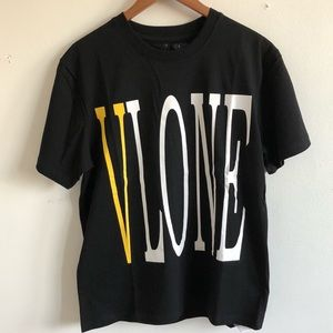 VLONE Shirts - Vlone Yellow Staple Tee Shirt